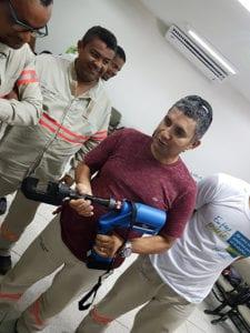 Funcionários da Energisa conhecem o equipamento